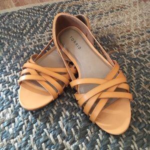 Torrid Mustard Peep Toe Sandals